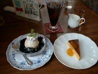 珈琲ゼリーとかぼちゃのプリン with アイスコーヒー